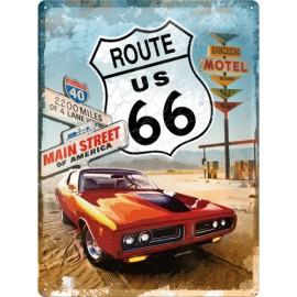 Rt 66 Blechpostkarte