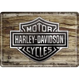 Harley Davidson Blechpostkarte