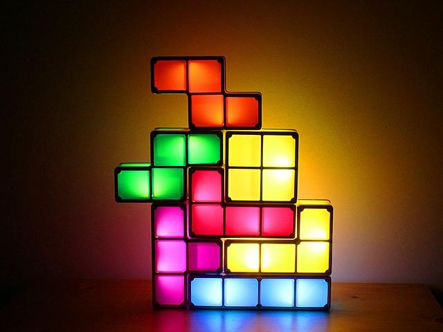 tetris led lampe. Black Bedroom Furniture Sets. Home Design Ideas