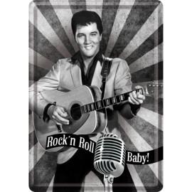 Elvis Presley, Rock'n Roll Baby Blechschild 20x30