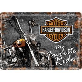 Harley Davidson Logo, my favorite ride Blechschild  20x30
