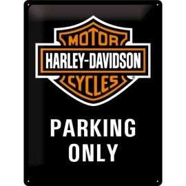 Harley Davidson, parking only Blechschild  30x40