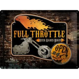 Full Throttle, Blechschild  30x40